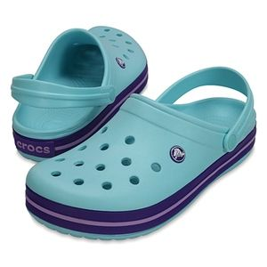 NEW Crocs Ice Blue Crocband Unisex Clogs M5 / W7
